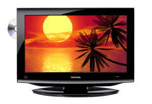 19″ LCD Toshiba Built-in-DVD Display Rental