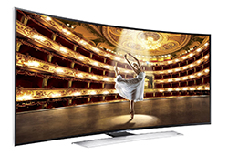 55″ Samsung Ultra HD 4K Curved Active 3D Smart TV LED Display Rental